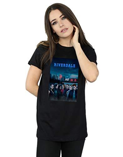 Riverdale Damen Die Diner Boyfriend Fit T-Shirt Schwarz Large