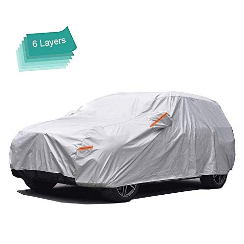 GUNHYI SUV Car Covers for Automobiles Waterproof All Weather, 6 Layer Heavy Duty Cover Sun Uv...