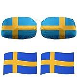 Sonia Originelli Fan-Paket-17 Auto WM Länder Außenspiegel Magnete Flaggen Fahren Fußball Farbe Schweden