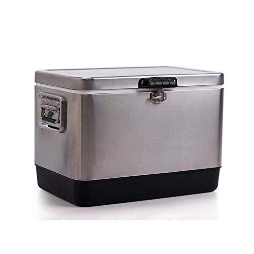 HYRL Edelstahl PU Kühlbox, Outdoor Isolationskühlschrank Isolierte Kühlbeutel Verwendet für Angeln/Jagd/Sport