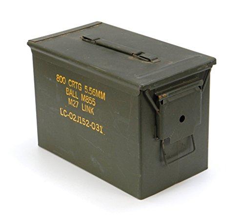 Originale gebrauchte Munitionskiste Größe 3 der U.S. Army für 800 Patronen Metallkiste Mun-Kiste Behälter Metallbox