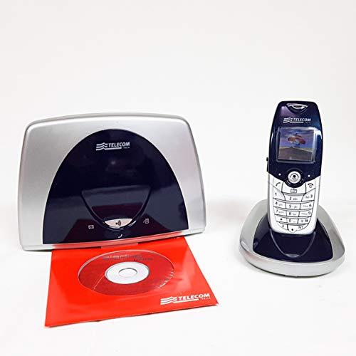 Telefono fisso cordless Aladino MMS, telefono domestico da casa con rubrica, fotocamera, lettore di schede sim per trasferire contatti