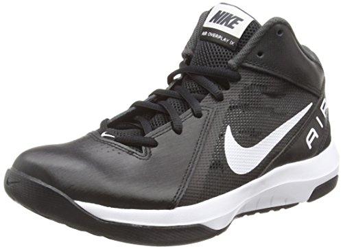 Nike Men's The Air Overplay IX Basketball Shoe Black/Anthracite/Dark Grey/White 10 D(M) US