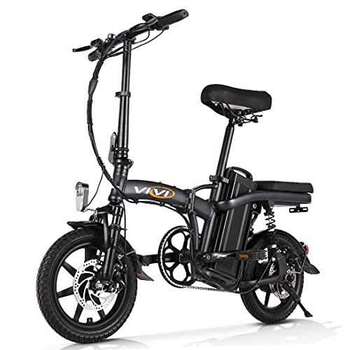 Vivi Folding Electric Bike, 14inch Ebikes for Adults, 350w Adult Electric Bicycles Commuting Folding Bike, with 20Ah 48V Ebike Battery, 20mph E Bikes 60 Mile Range