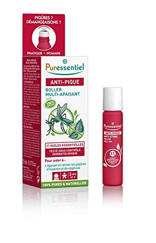 Puressentiel – Antipicos – Patines calmantes con 11 aceites esenciales – BIO – Ayuda a calmar y calmar las pieles irritadas por las picaduras – Activos 100% naturales – 5 ml