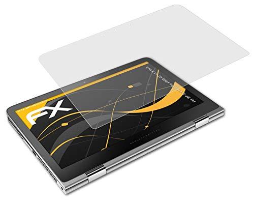atFolix Panzerfolie kompatibel mit HP Spectre Pro x360 G2 13,3 Inch Schutzfolie, entspiegelnde & stoßdämpfende FX Folie (2X)