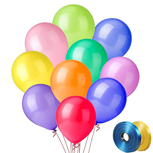 Best Buy! 100 PCS Party Balloons (10 Colors X 10 PCS), 12 Inch High Quality Assorted Colorful Ball...