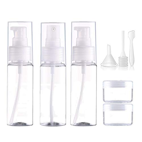 TUANTALL Neceser Transparente para Avion Kit Viaje Reutilizables Botellas de champú Botellas de plástico Contenedores de Viaje