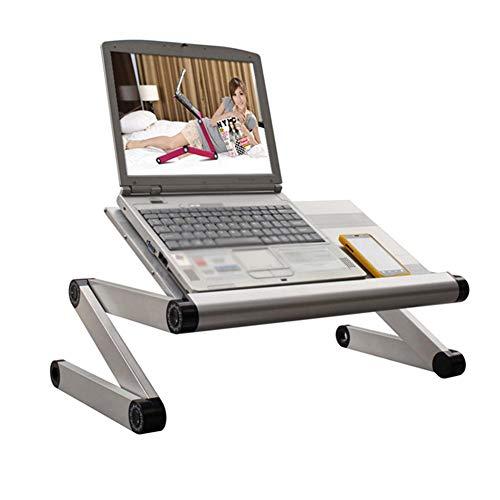 Levendig kantoor/eenvoudige opbergtafel laptop staander voor bureau opvouwbaar draagbare huishoudbed tafel studentenhuis kamer met ventilator 3 USB-poorten kan worden opgetild en verlaagd, al