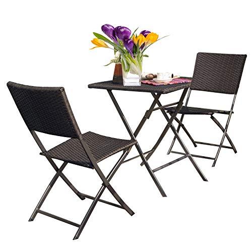 Grand patio Parma Rattan Patio Bistro Set, Weather Resistant Outdoor Furniture Sets