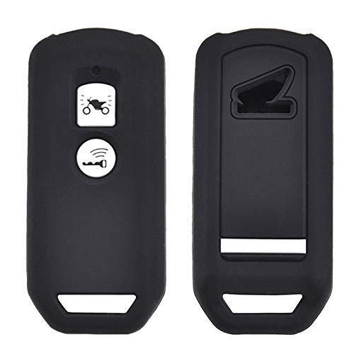 XUKEY Carcasa de Silicona para Llave de PCX 150 Hybrid X-ADV SH125 Scoopy SH300 Forza 125 300 2018 Motocicleta Scooter 2 Botones Smart Key