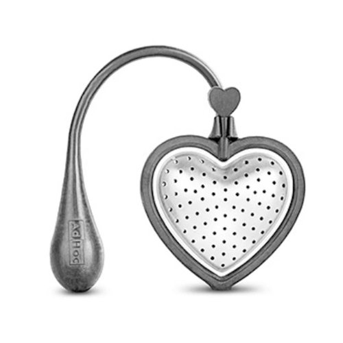 AdHoc Stainless Steel & Silicone Floating Tea Heart Tea Infuser