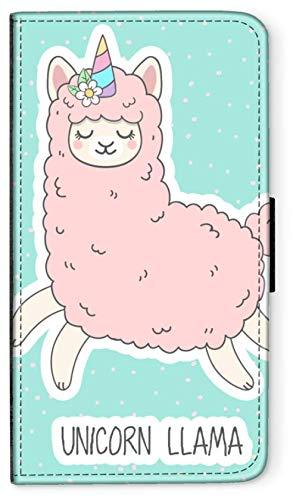 CoverCase Funda con tapa Lama Alpaca México compatible con Huawei P8 Lite 2017 Unicornio Lama Teléfono Móvil Funda Funda Flip Wallet Funda redonda Protección Wallet M12