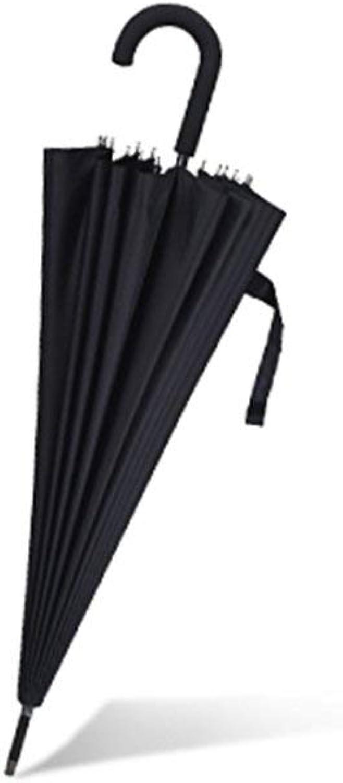 Umbrella, Straight Umbrella Pure color Curved Handle Windproof Reinforcement Foldable, Non-Slip Handle Windproof Umbrella, ZDS