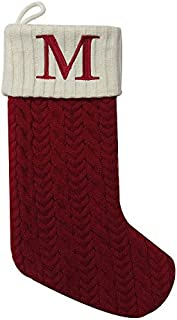 embroidered knit christmas stockings