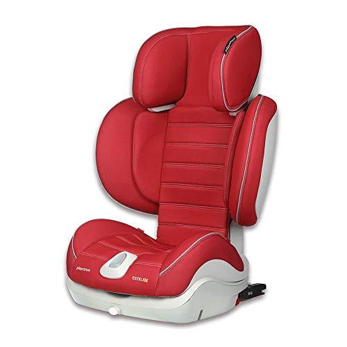 Playxtrem Estel Fix 106214F 867 - Silla de coche con Isofix para grupo 2 y 3, Color Roj