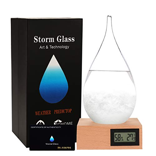 G GGPOWER Storm Glass Weather Stations Water Drop Weather Predictor Creative Forecast Nordic Style Decorative Weather Glass (XXXL)