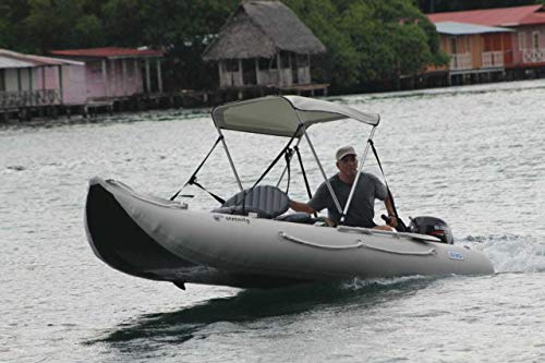 Inflatable Kayak with outboard motor