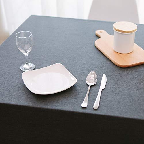 pridesong Einfarbig rechteckige tischdecke wasserdicht leinen Kaffee Restaurant Baumwolle leinen tischdecke wasserdicht tiefkaffee 90 * 130