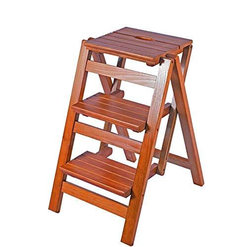 ZRABCD Escalera Telescópica Taburete Plegable para Adultos Escalera Plegable de Madera Escaleras de Cocina Taburetes Pequeños para Pies Zapatero Portátil,H3