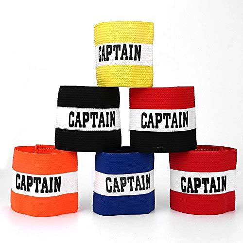 Kyowoll 6 Piezas Fútbol Capitán Brazalete, Fútbol Brazalete elástico, Velcro para Tamaño Ajustable, Adecuado para Muchos Tipos de Deportes Elásticos Brazaletes