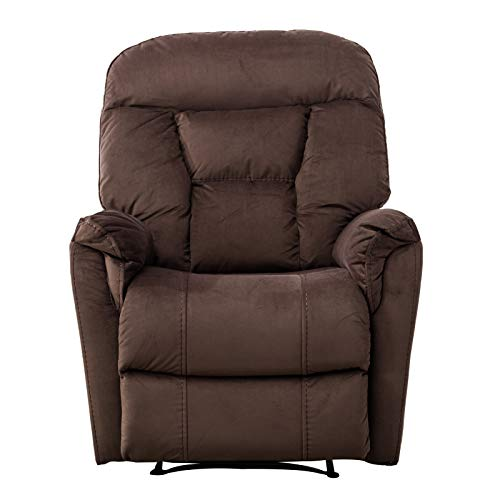zsjhtc Lift Recliner Chair for Elderly,Adjustable Warm Soft Velvet Bedroom Theater Recliner Chair with Armrest Backrest for Home Theater Seating Brown