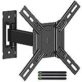 USX-MOUNT TV/Monitor Halterung Einarm für 13-32 Zoll Monitor/TVs,TV Wandhalterung Schwenkbar Neigbar bis zu 25kg,VESA 75x75-200x200mm