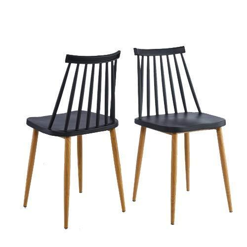 Sillones únicos en Blanco o Negro, un Juego de 2 sillas de Comedor para la Familia/Comedor/Cocina Sillón reclinable Suave y Relajante (Color: Negro)