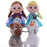 cgzlnl Frozen Elsa Anna Juguetes De Peluche Muñecos De Animales De Peluche Suaves, Cumpleaños para Bebés Y Niñas 4 Unids / Set 25/28 / 30Cm
