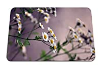 26cmx21cm マウスパッド (花のヒナギクのぼやけ) パターンカスタムの マウスパッド