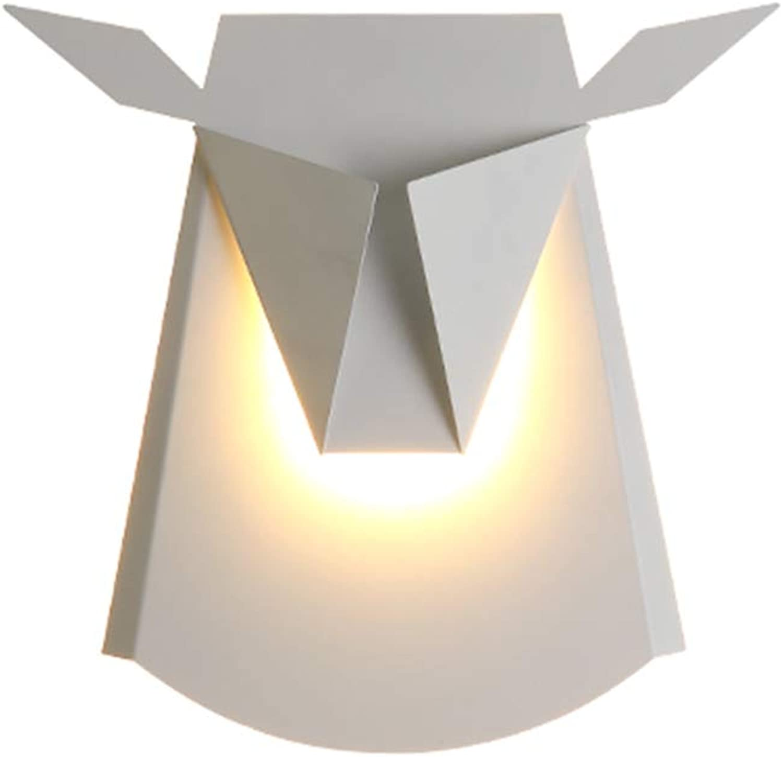LED Eisen Kunst Wandleuchte für Schlafzimmer Wohnzimmer Kinderzimmer Korridor,Weiß