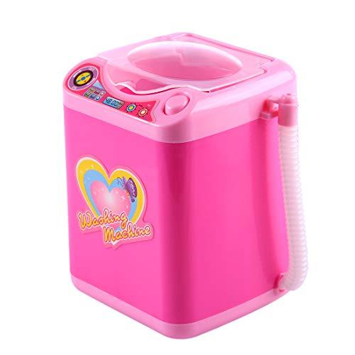 YVSoo Mini Machine à Laver Dînette Enfant Outil de Nettoyage Maquillage Machine électronique pour Laver Houppe à Poudre, Pinceaux de Maquillage
