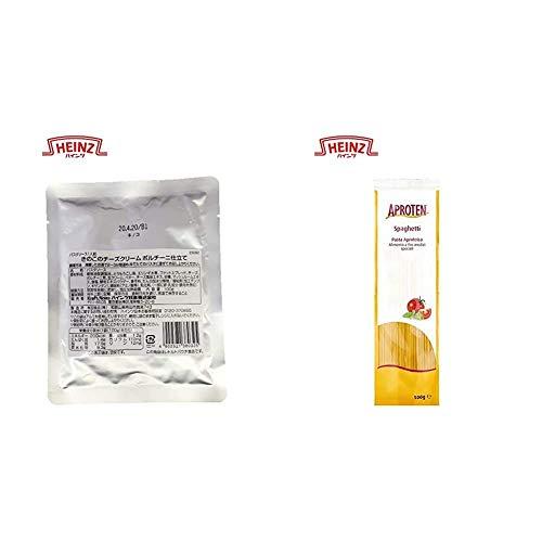 【セット買い】ハインツ 大人むけ たんぱく調整のパスタソース きのこのチーズクリームポルチーニ仕立て 100g×3袋 &  アプロテン たんぱく調整 スパゲティタイプ 500g