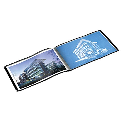 Cardinal Products ShowFile Tabloid Presentation Book, Black, 11 x 17, 1 per Box (55232)