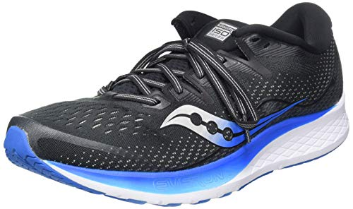 Saucony RIDE ISO 2, Scarpe running uomo, Nero (Black/Blue 02), 45 EU