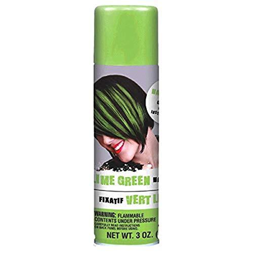 Amscan Lime Green Hair Spray Party Supplies, 3 oz