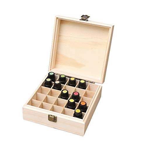 ShangSky Öl Aufbewahrungsbox,Massivholz Ätherisches Öl Etui ätherisches,Ätherisches Öl Display Ständer Gestell Halter für Nagellack Öle Duftöle