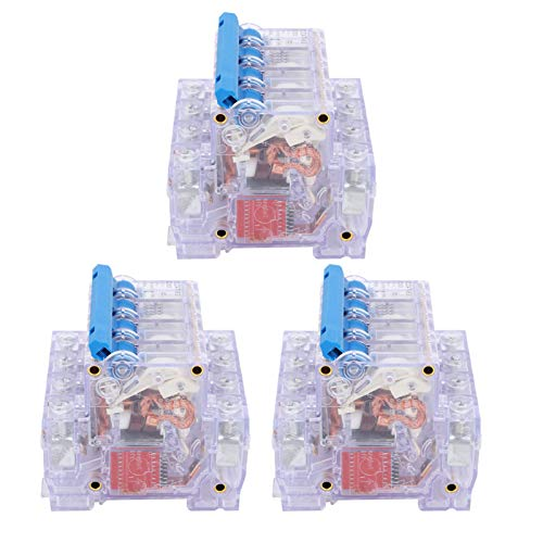zhuolong Circuit Breaker, DZ47‑63 4p6~63a Circuit Breaker Transparent Shell Air Switch Household Circuit Disconnector