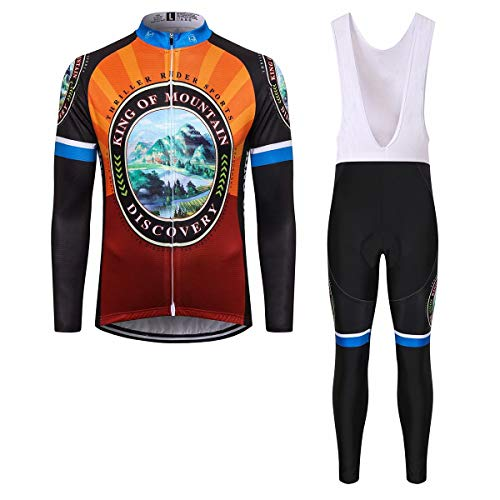 Thriller Rider Sports Uomo Discovery Sport e Tempo Libero Abbigliamento Ciclismo Magliette Manica Lungo e Pantaloni Tuta 4X-Large