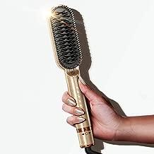FURIDEN Straightening Brush, Hot Brush Hair Straightener, Double Ionic Hair Straightener Brush, Hair Straightener Brush for Black Women, Cepillo Alisador de Cabello