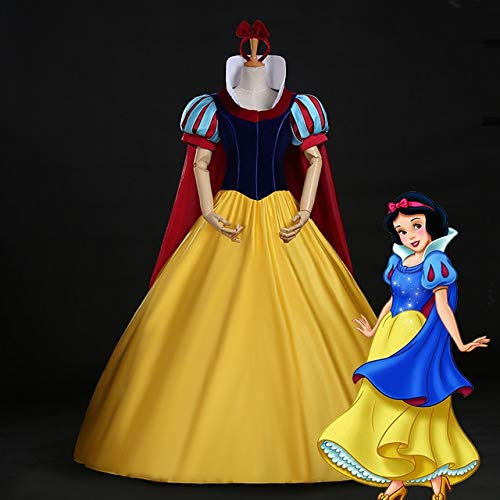 LJYNB Halloween Mujeres Blancanieves Vestido de princesa Blancanieves Cosplay Juego de roles de lujo Traje de escenario S-XL aceptar pedido personalizado XS blanco nieves