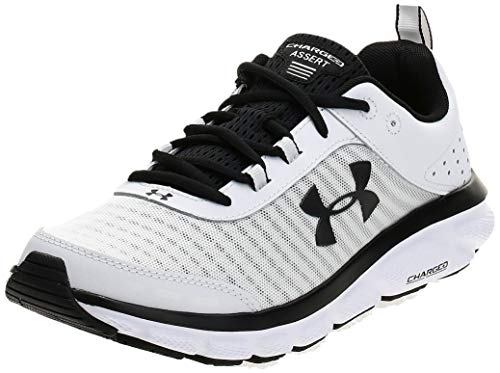 Under Armour Men's Charged Assert 8 Running Shoe, White (102)/White, 10.5