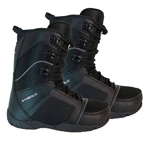 Symbolic Ultra Light Black Snowboard Boots 7 8 9 10 11 12 13 14 (Black, Mens 10)