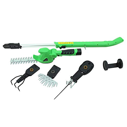 Learn More About YYR Hedge Trimmers 4In1 Garden Power Tool 10.8V Li-Ion Cordless Hedge Trimmer Grass...