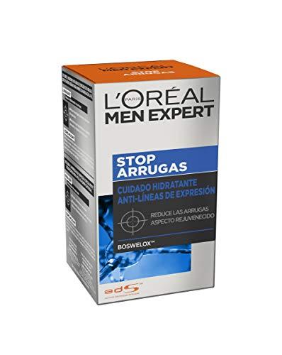 L Oreal Paris Men Expert - Cuidado hidratante anti-arrugas de expresión Stop Arrugas, 50 ml