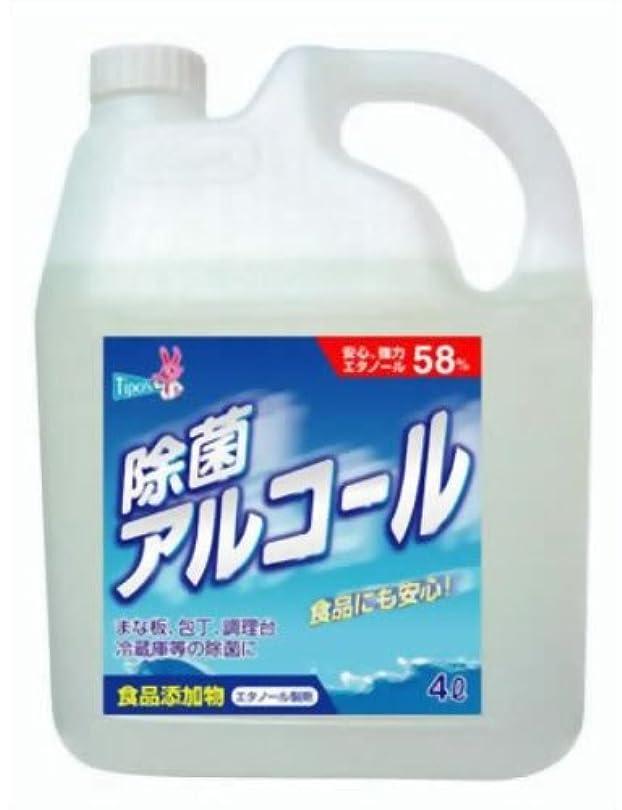 偽物推論鳥【大容量】 ティポス 除菌アルコールスプレー 4L