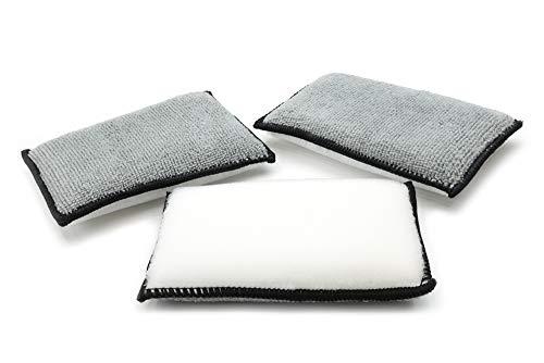 "Autofiber [Scrub Ninja Interior Scrubbing Sponge (5""x3"") for Leather, Plastic, Vinyl and Upholstery Cleaning"