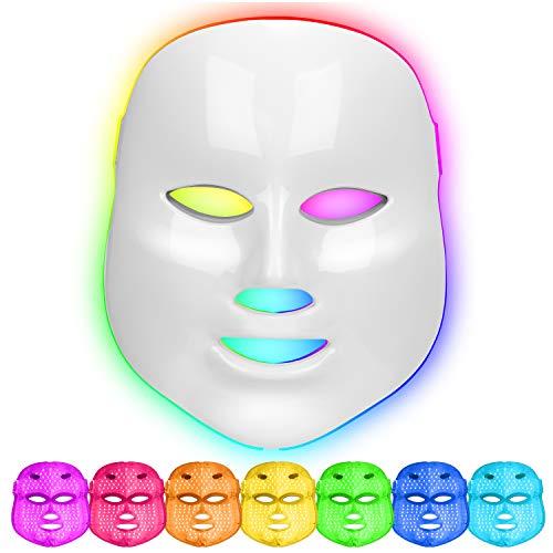 LED Máscara Facial 7 colores Fotón Terapia de luz