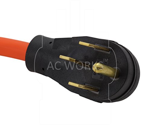 AC WORKS 4-Prong 220-Volt Plug to 120-Volt 15/ 20Amp Household Female Adapter Cord (4-Prong 14-50 Outlet to (4) Household)