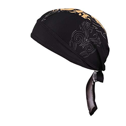 DaMohony Outdoor-Radkappen, schnelltrocknend, Sport-Kappen, Stirnband, Kopfbedeckung, Kopftuch, Mütze